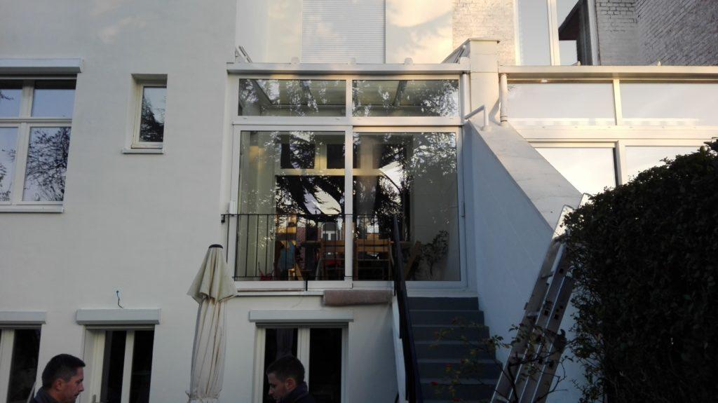 Porte fenêtre alu blanc