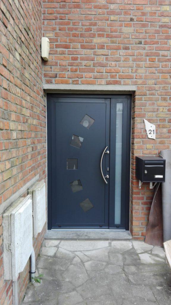 Loos Porte Dentrée Et Fenêtre Triple Vitrage Gris Aluminium